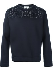 Valentino Studded Sweatshirt Blue