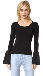 Elizabeth And James Willow Bell Sleeve Top Black