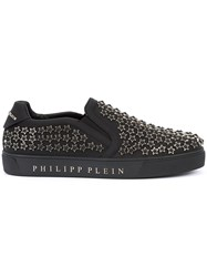 Philipp Plein Star Studded Sneakers Men Leather Rubber 40 Black