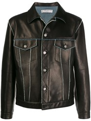 Givenchy Contrast Trims Leather Jacket 60