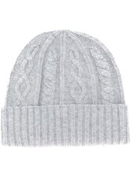 Brunello Cucinelli Cable Knit Hat Grey