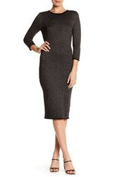 Jessica Simpson Midi Pencil Dress Black