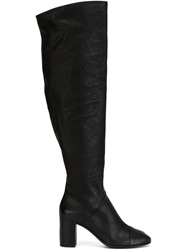 Roberto Del Carlo Knee High Zip Boots Black