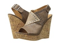 Not Rated Sinni Taupe Women's Wedge Shoes