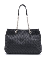 Bottega Veneta Woven Tote Bag Black