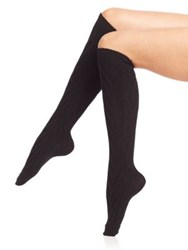 Ilux Lemi Knee High Socks Gigi Grey Black
