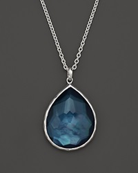 Ippolita Sterling Silver Wonderland Large Teardrop Pendant Necklace In Indigo 16
