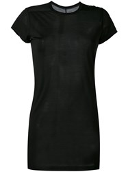 Rick Owens Short Sleeve Top Women Silk 40 Black
