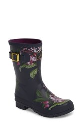 Joules 'Molly' Rain Boot Navy Artichoke Floral