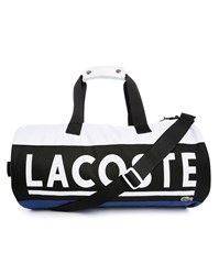Lacoste White Blue And Black Sports Bag