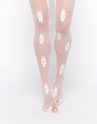 Leg Avenue Daisy Tights White