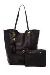Cynthia Vincent Eden Leather Tote And Pouch Black