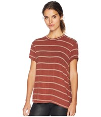 Rvca Suspension Short Sleeve Top Henna Clothing Brown