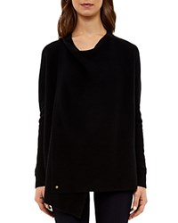 Ted Baker Ribbed Wrap Cardigan Black
