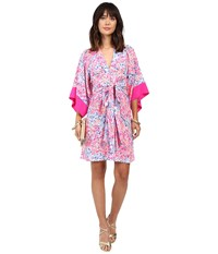 Lilly Pulitzer Kimora Dress Multi Coco Coral Crab Women's Dress Pink