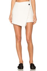 Raquel Allegra Wrap Skirt White