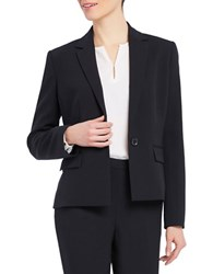 Ellen Tracy One Button Blazer Black