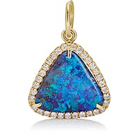 Irene Neuwirth Women's Diamond And Boulder Opal Pendant No Color
