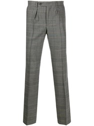 Hackett Check Tailored Trousers Grey