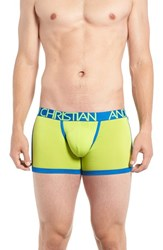 Andrew Christian Men's Coolflex Tagless Sports Boxer Briefs Lime