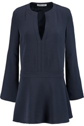 Elizabeth And James Carson Crepe Mini Dress Navy