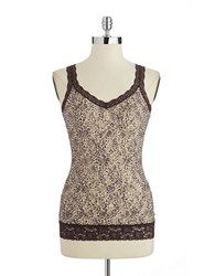 Dkny Patterned Lace Camisole Animal
