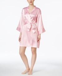 Morgan Taylor Leopard Print Satin Robe Only At Macy's Pink Leopard