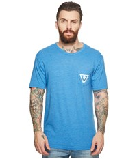 Vissla Established Tri Blend Pocket T Shirt Top Royal Wash Heather T Shirt Blue