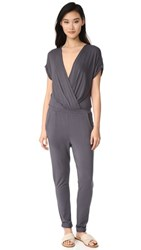 Young Fabulous And Broke Colleen Jumpsuit Charcoal
