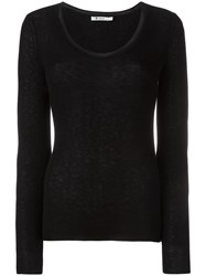 Alexander Wang T By Scoop Neck Jumper Black