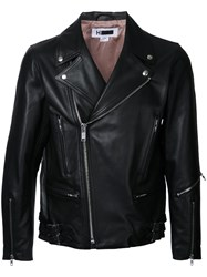 H Beauty And Youth Zip Up Biker Jacket Black