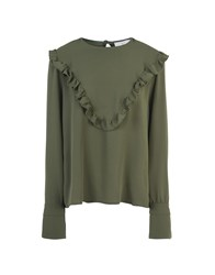 George J. Love Shirts Blouses Military Green