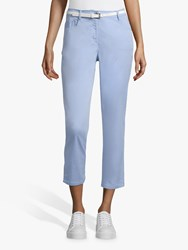 Betty Barclay Cropped Belted Jeans Light Opal