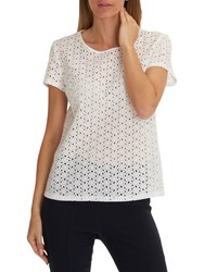 Betty Barclay Broderie Anglaise Blouse Off White