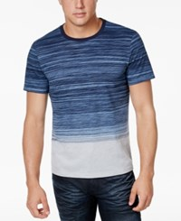 Inc International Concepts Men's Ombre Striped T Shirt Only At Macy's Basic Navy
