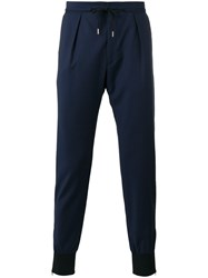 Paul Smith London Gathered Ankle Trousers Blue