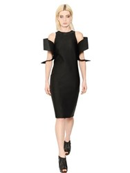 Christopher Kane Cotton Blend Satin Ottoman Dress