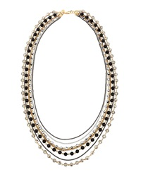 Lydell Nyc Mixed Metal Multi Row Necklace