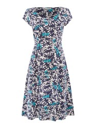 Lily And Me Vintage Fit Flare Dress Navy