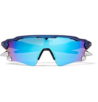 Vetements Oakley Spikes 200 D Frame Acetate And Rubber Sunglasses Blue