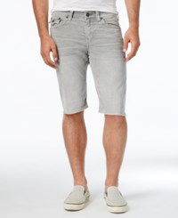 True Religion Men's Ricky Relaxed Fit Jean Shorts Old Grey