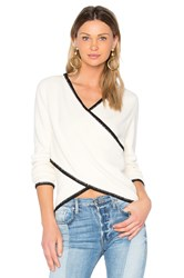 Derek Lam Cross Front Sweater White