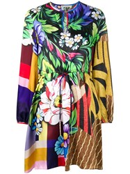 Mary Katrantzou Printed Flared Dress Yellow And Orange