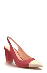 Shoes Of Prey Women's Slingback Pump Red Leather