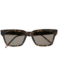 Thom Browne Eyewear Square Frame Sunglasses Brown