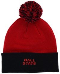 Top Of The World Ball State Cardinals 2 Tone Pom Knit Hat