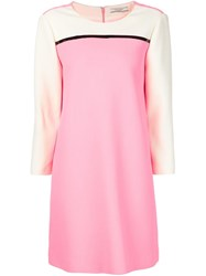 Bouchra Jarrar Colour Block Shift Dress Pink And Purple