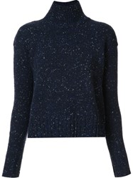 Organic By John Patrick High Neck Sweater Blue