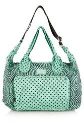 Marc By Marc Jacobs Printed Embroidered Satin Twill Tote Light Green