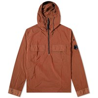 C.P. Company Nylon Arm Lens Hooded Overshirt Orange